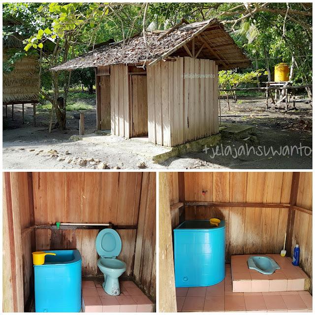 Kamar mandi di Talaip Homestay, Raja Ampat +jelajahkeluargasuwanto