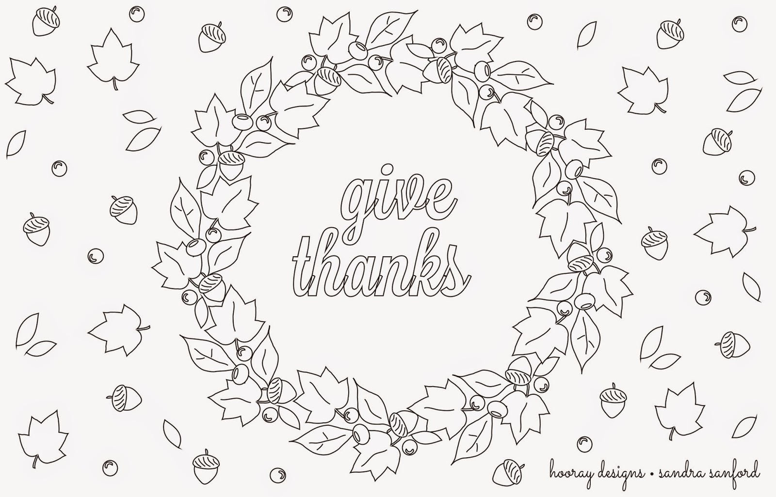 Hooray: Thanksgiving Printable Place Mats