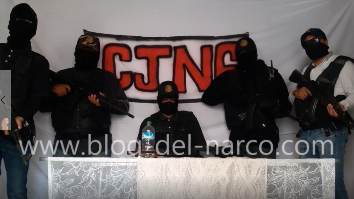 """Vídeo CJNG anuncia limpia en Guanajuato, """"Nuestra guerra no es contra el pueblo ni con autoridades"""""""