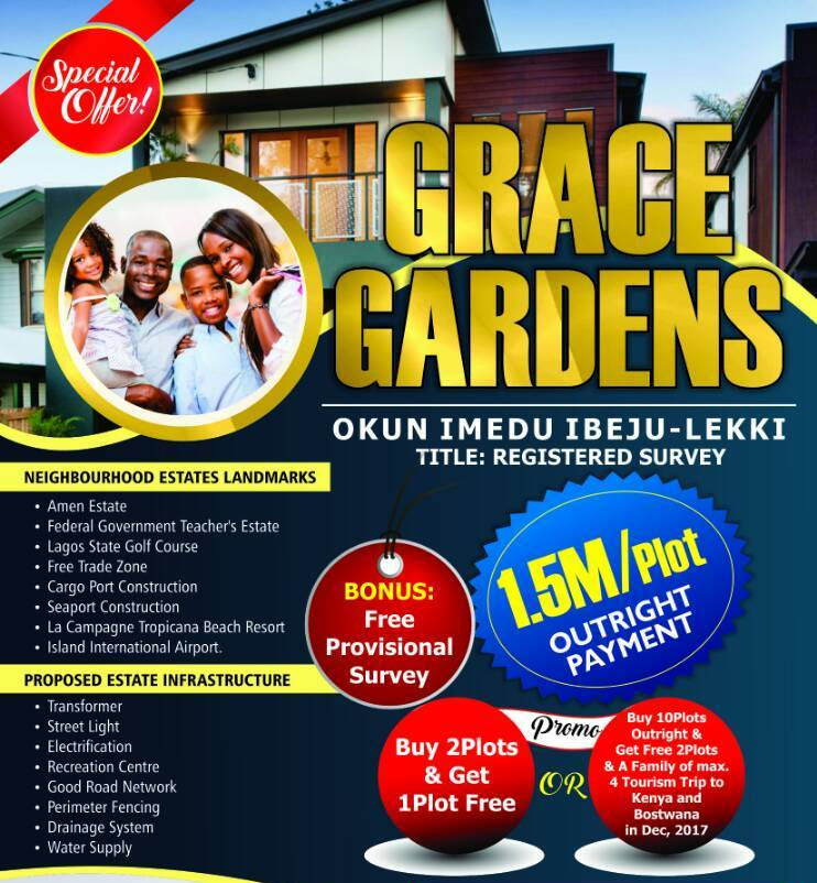 Buy 2 Plots And get 1 Free On Grace Gardens