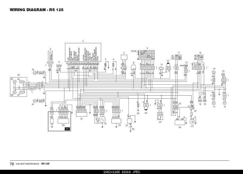 APRILIA RS 125 : aprilia RS 125 wiring diagrams