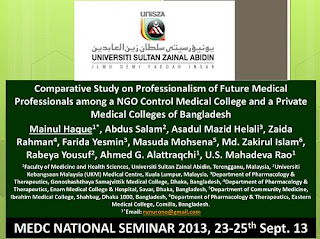 Comparative Study on Professionalism, MEDC National Seminar, 2013