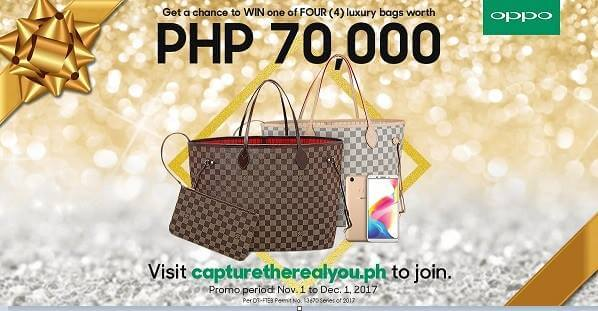 Buy OPPO F5, Win A Luxury Bag Worth Php70K
