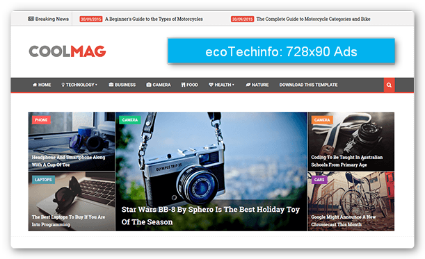 Cool Mag is best Professional Responsive Free Blogger News Template