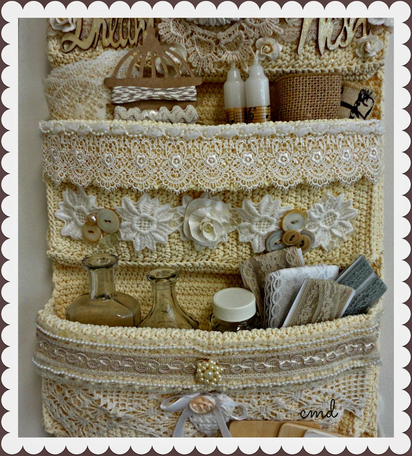 Crocheted Studio Storage Keeper Rose Garden Market