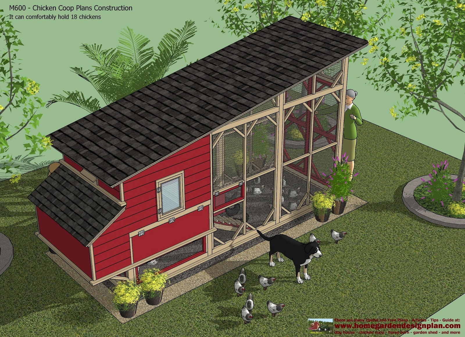 Home garden plans m600 chicken coop plans construction for How to design a chicken coop