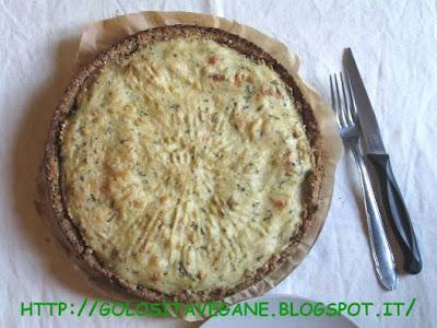 Crostata salata al dragoncello con cavolfiore verde e crema di semolino