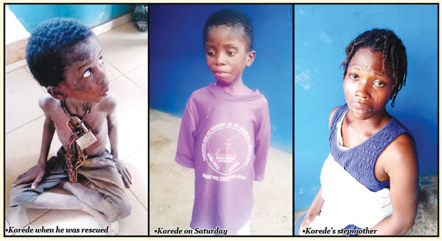 boy chained by father ota ogun state