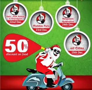 Order Online at Foodpanda Min worth Rs.300 & Get Flat Rs.150 Off (Offer Valid from 22nd Dec to 25th Dec'13)