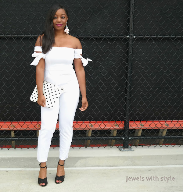 how to wear all white, monochrome outfit, all white outfit, white Asos romper, white jumpsuit, rules for wearing white, jewels with style, columbus ohio blogger, columbus personal stylist, wardrobe stylist in ohio,