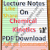 Lecture Notes on Chemical Kinetics PDF Download