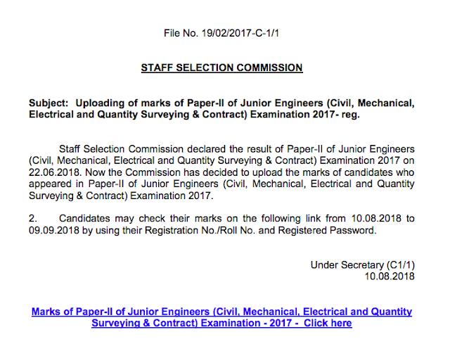 ssc je marks 2018 paper 2