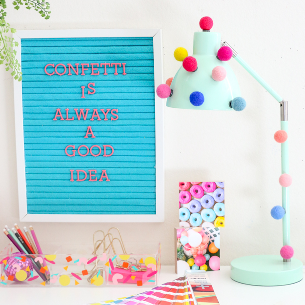 DIY It – A Quick and Simple Pom Pom Desk Lamp
