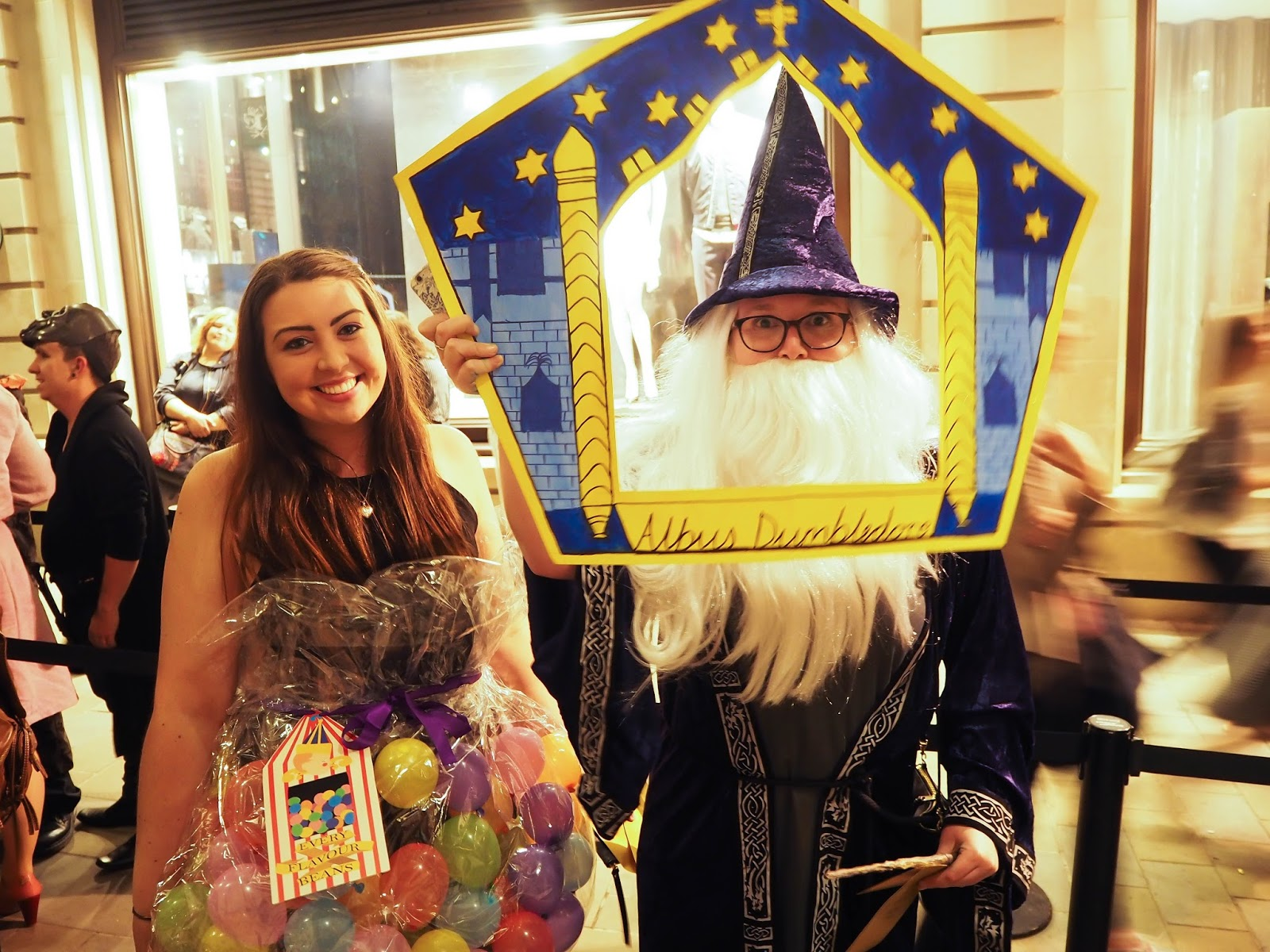 Harry Potter fancy dress. Bertie Bott's beans and Albus Dumbledore