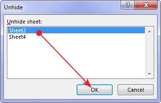 Cara menampilkan worksheet yang tersembunyi