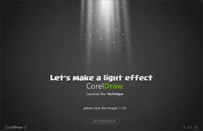 Membuat Efek Cahaya di Corel