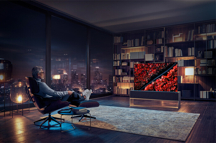 Modalità The Vision Full View del LG OLED TV R