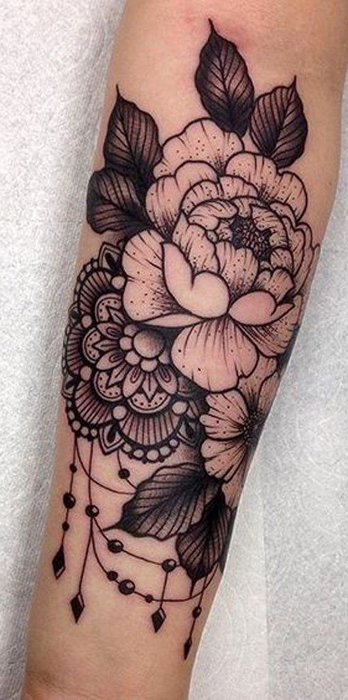 cute flower tattoo