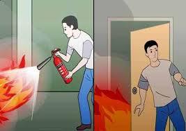 Sử dụng phương tiện chữa cháy có sẵn để dập cháy