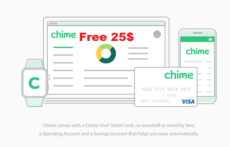 Chime Prepaid Card $25 Sign-Up Bonus, $25 Referral Bonuses and