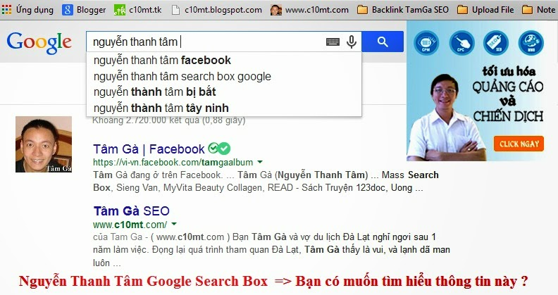 nguyen thanh tam google suggest search box