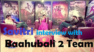 A very Funny Interview by Teenmaar Savitri wtih Baahubali-2 Team Prabhas-Rana-Anushka
