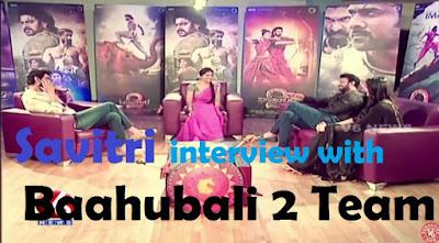 A very Funny Interview by Teenmaar Savitri wtih Baahubali-2 Team Prabhas-Rana-Anushka
