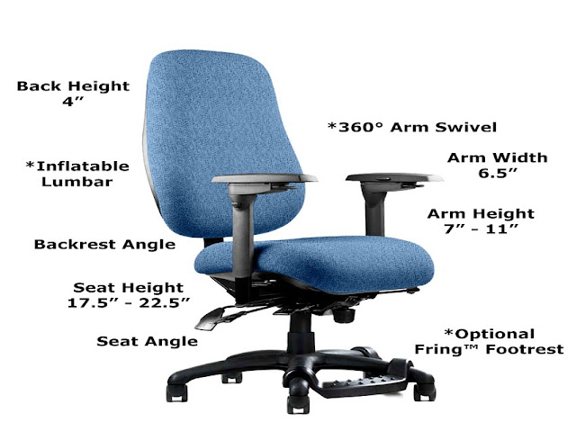 ergonomic office chair height standard