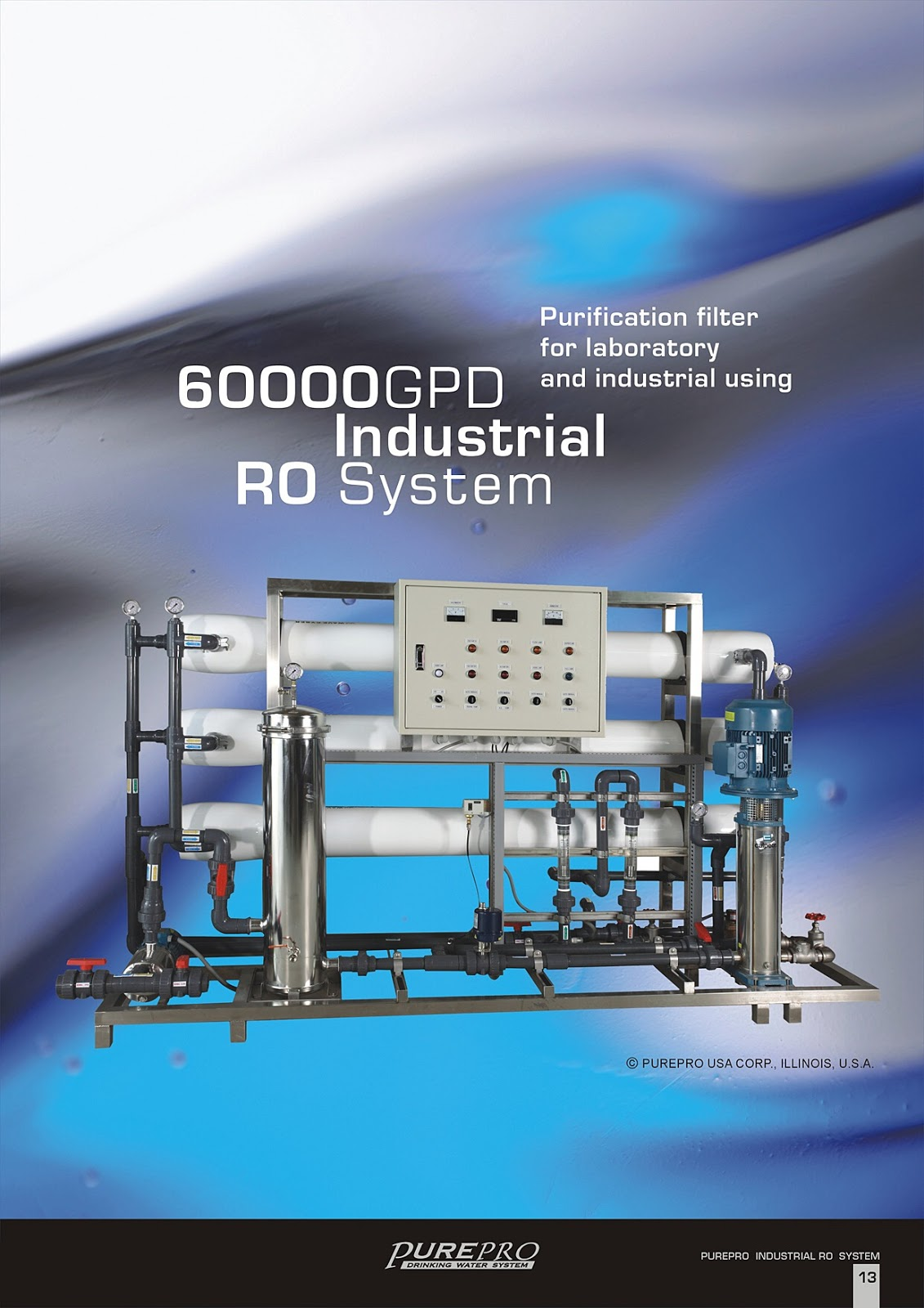 PurePro® RO60000 Industrial Reverse Osmosis Water Filter System