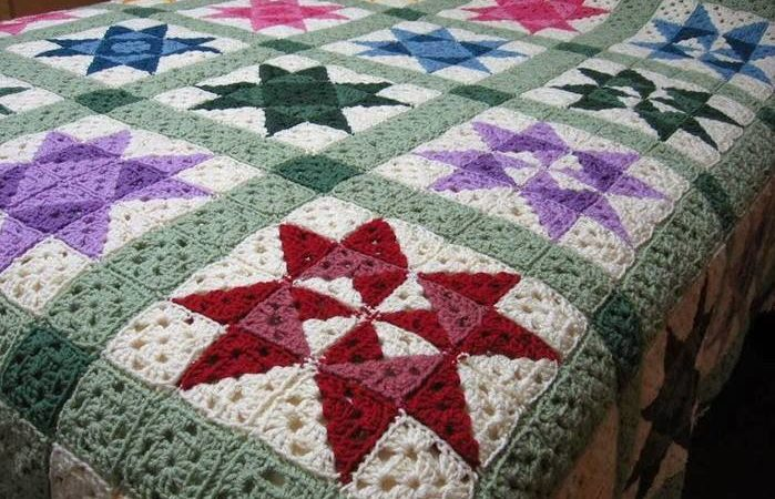 Granny triangles. Free crochet pattern
