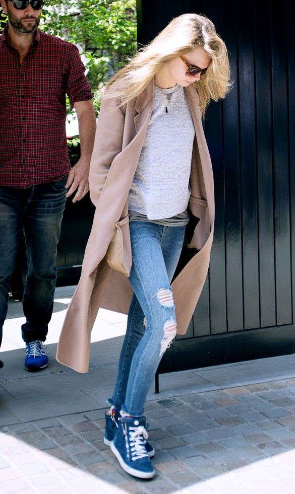 NO MORE JEANS: Cara Delevingne looks