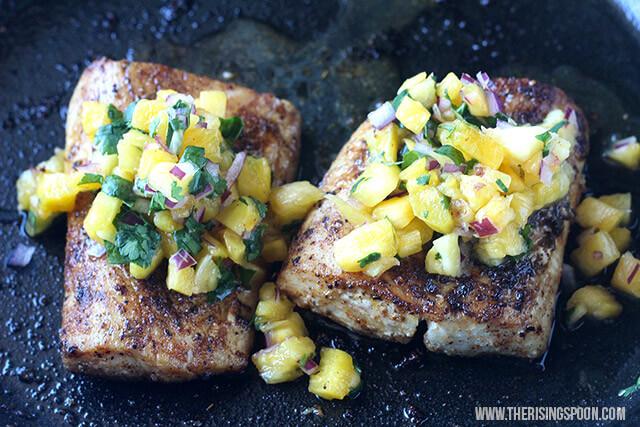 Pan-Seared Mahi-Mahi with Pineapple Salsa