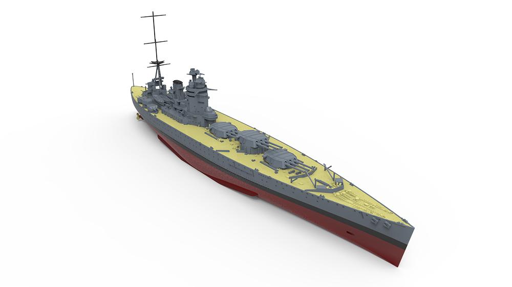 Meng Model PS-001 1:700th scale HMS Rodney Royal Navy Battleship