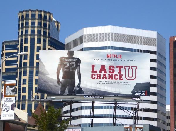 Last Chance U series premiere billboard