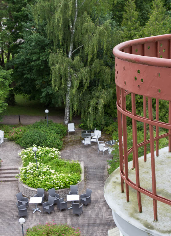 PauMau blogi nelkytplusbloggari nelkytplus nelkytplusblogit Imatran Valtionhotelli parveke huonenäkymä puistoon terassi