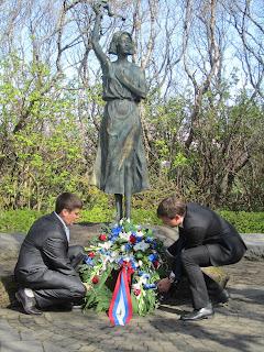 Памятник морякам полярных конвоев. Рейкьявик. Автор В.А.Суровцев