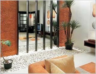 desain taman zen dalam rumah