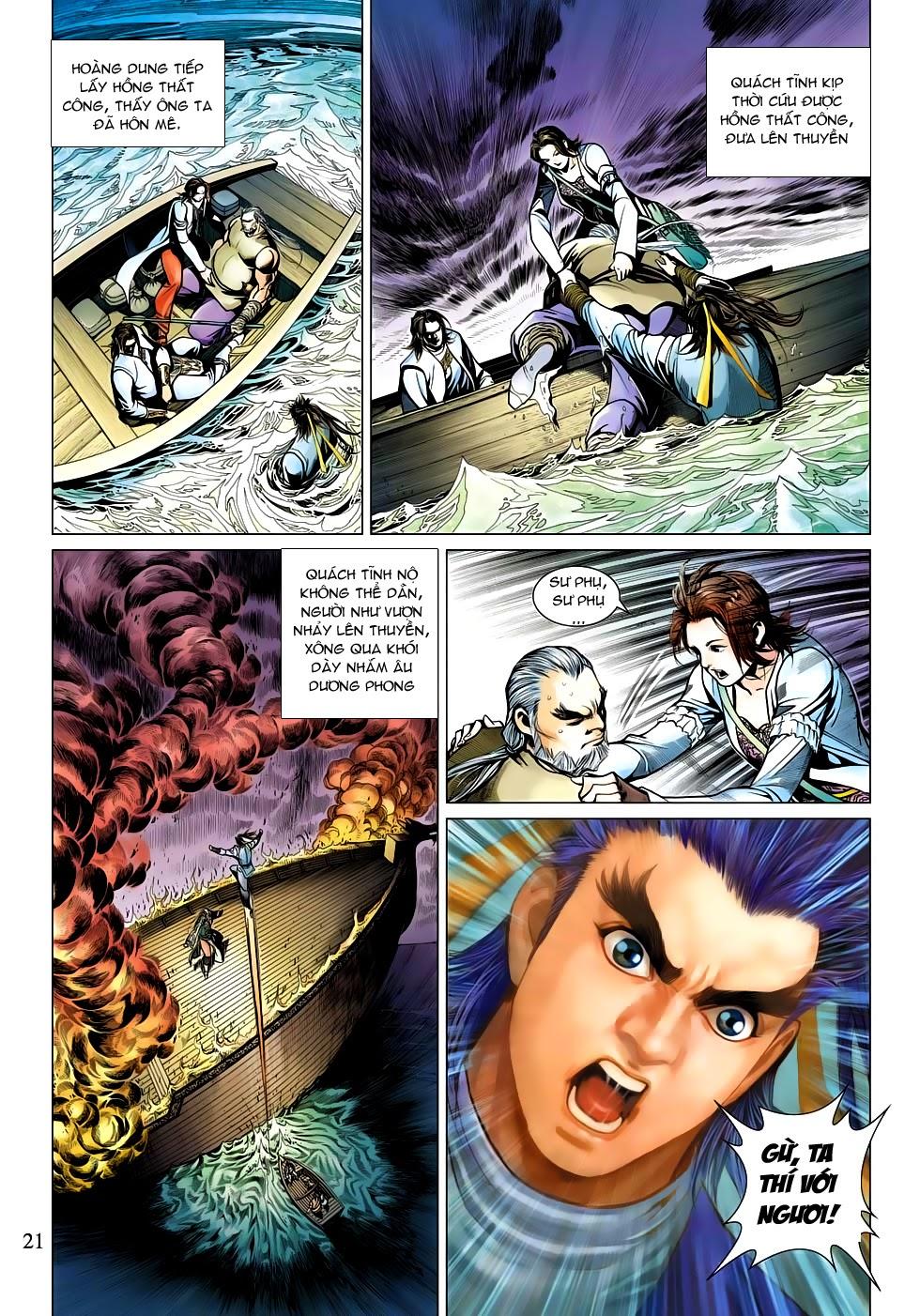 Anh Hùng Xạ Điêu anh hùng xạ đêu chap 53: lâm nguy thụ mệnh đả cẩu học pháp trang 22