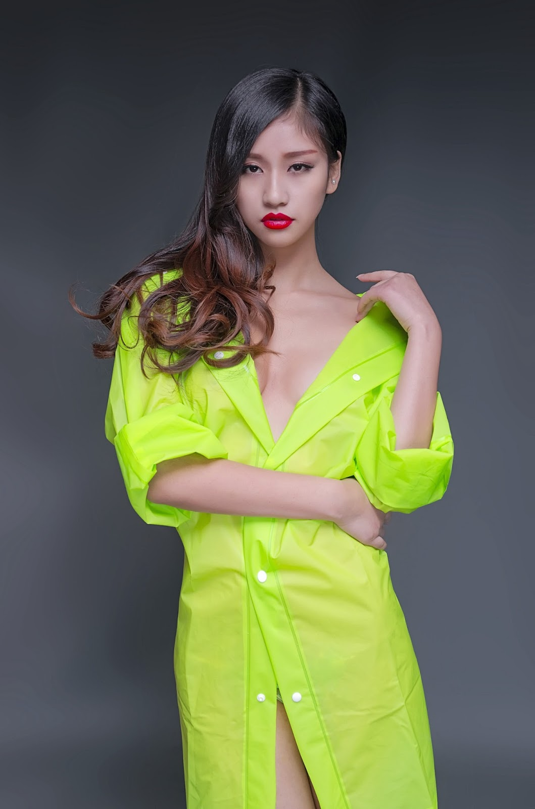 Hot Sexy Model Girls Chinese Sexy Model Girl With Raincoat-7739