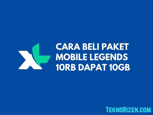 Cara Beli Kuota Mobile Legends XL Rp10.000 10GB Terbaru 2019