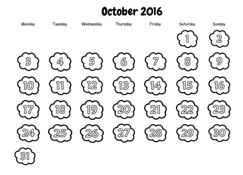 Recursos para el aula de lengua: Calendario imprimir y colorear en ...