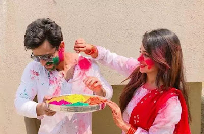 dipika-shoaib-first-holi-after-marriage