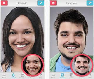 facetune, aplikasi percantik wajah