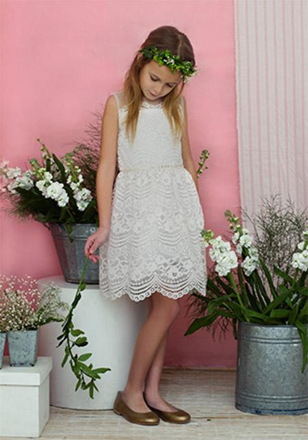 Vestidos de fiesta moda verano 2018 para niñas.
