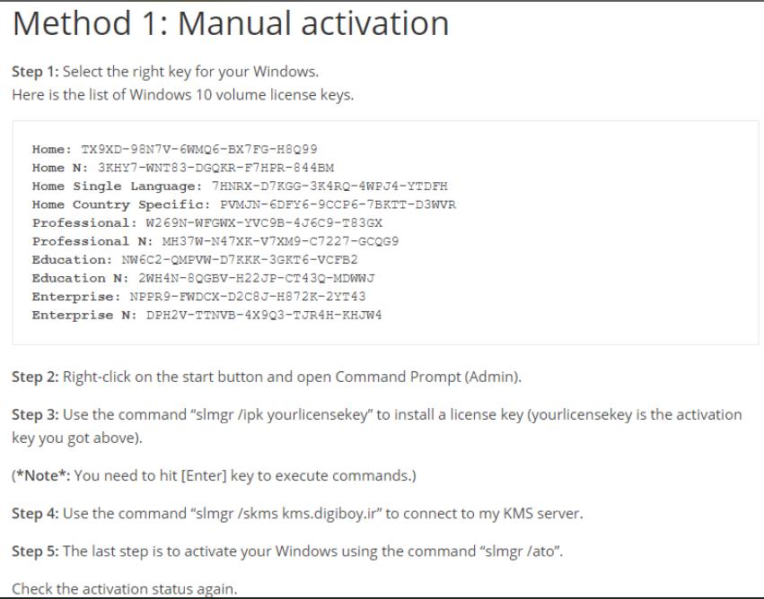 windows 10 home single language product key list