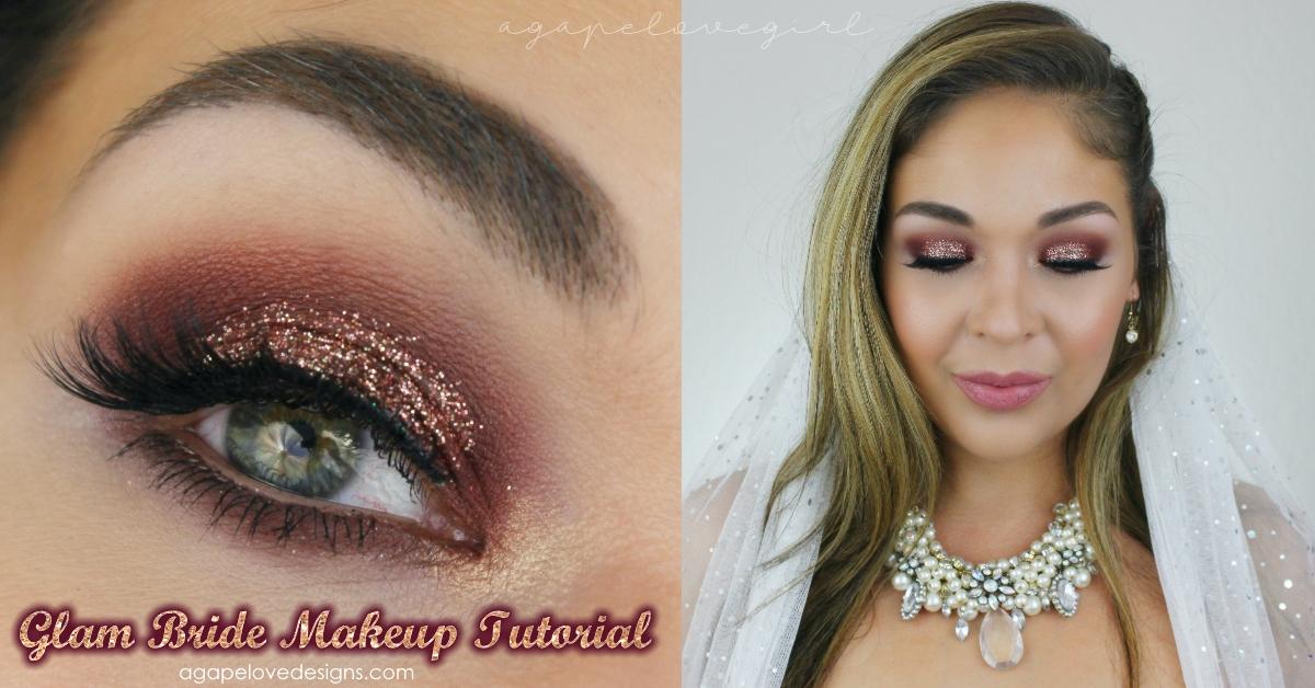 Agape Love Designs Bridal Makeup Glitter Glam Tutorial