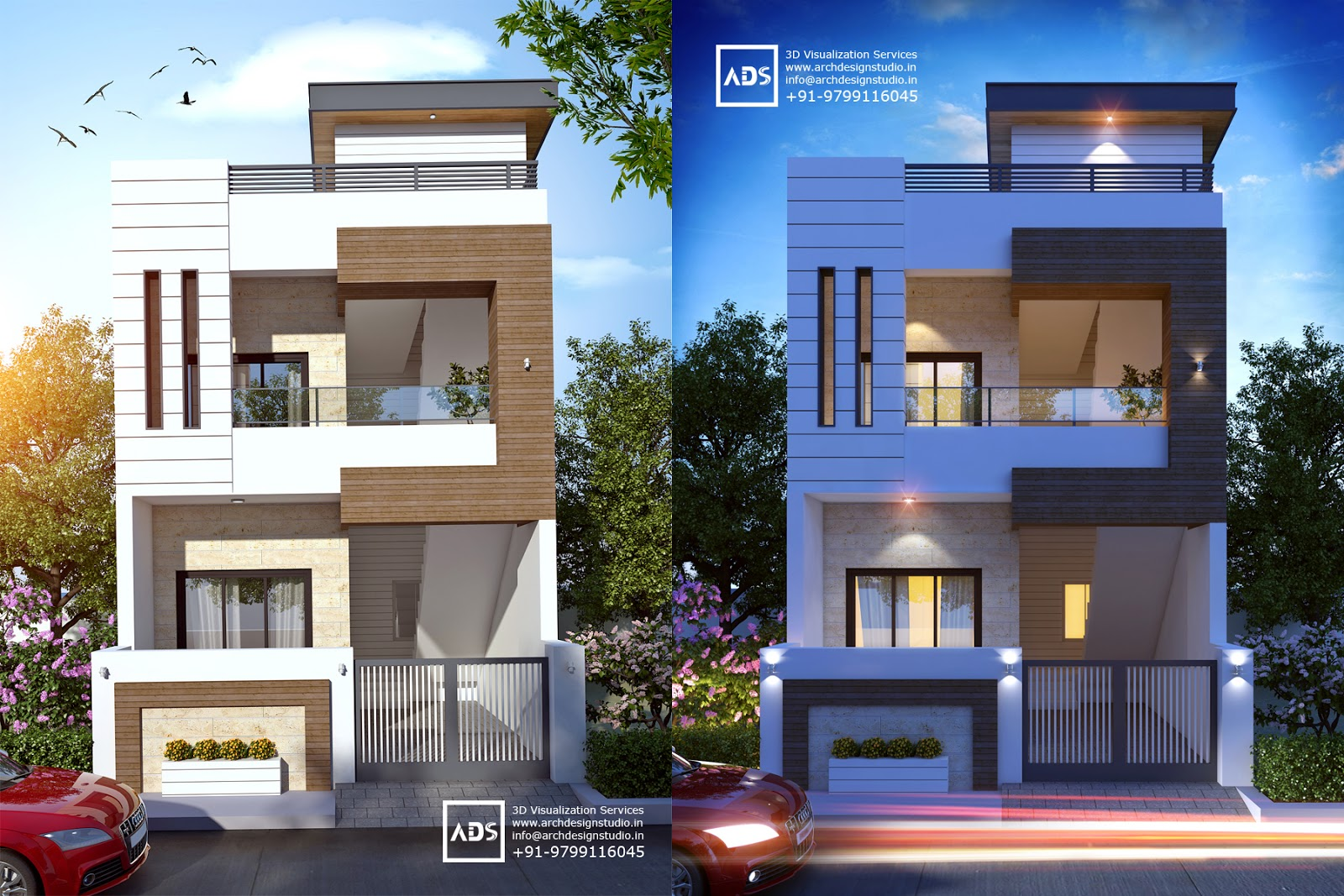 3d bungalow elevation joy studio design gallery best for Contemporary building elevation