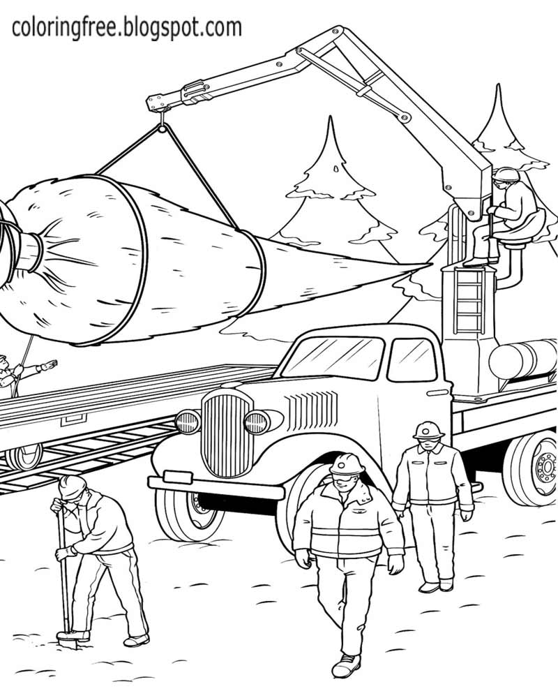 30 best ideas for coloring  Christmas Truck Coloring Page