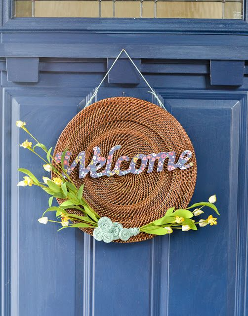 modern spring wreath diy from a thrift store find