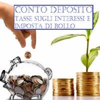 imposta di bollo per conto deposito e tassazione interessi
